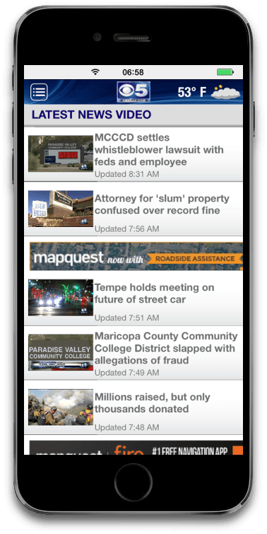 Mobile apps case study - Video news iPhone