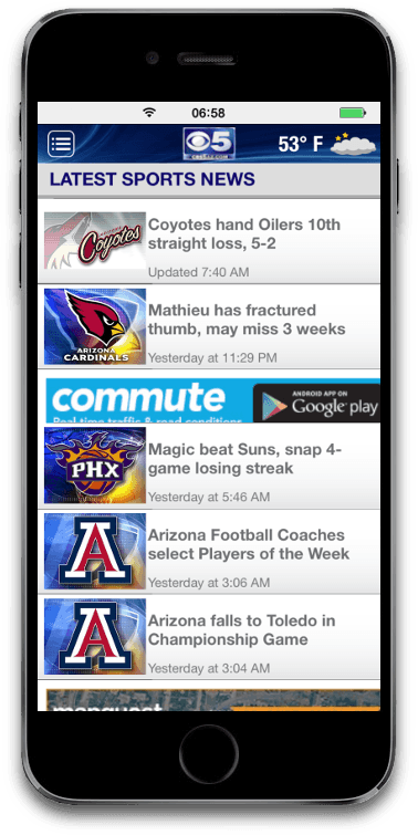 Mobile apps case study - Sport news app iOS