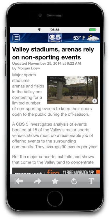 News application for IOS