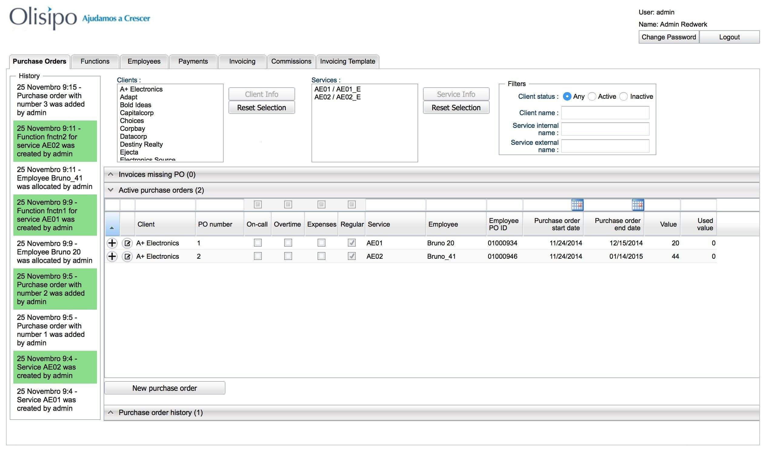 Web-based service management tool