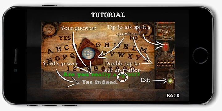 Ouija board app for iPhone platform / Software development company Redwerk