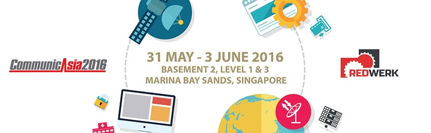 CommunicAsia in Top tech events 2016, Q2 - guide by Redwerk