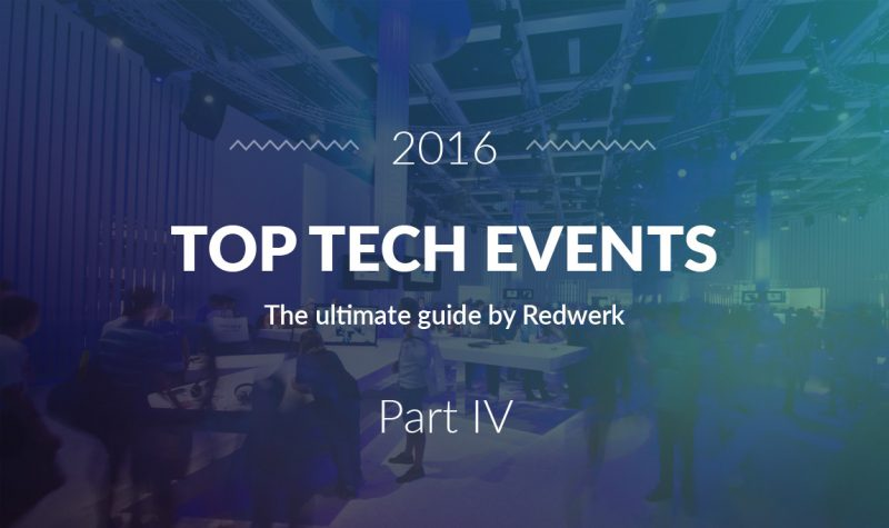 Best tech conferences in Quarter 4 of 2016 - the guide by Redwerk company