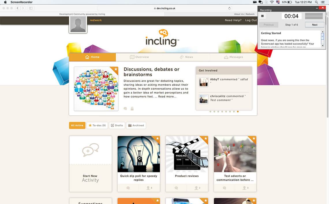 Redwerk developers upgraded Incling Java creencasting app