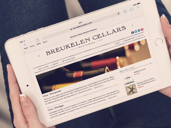 Breukelen Cellars outsourced website design and development to Redwerk company
