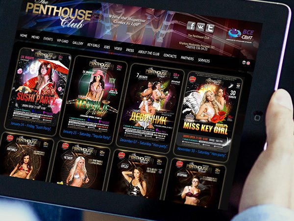 IT outsourcing case study - Penthouse Club in Kharkov website / Redwerk company