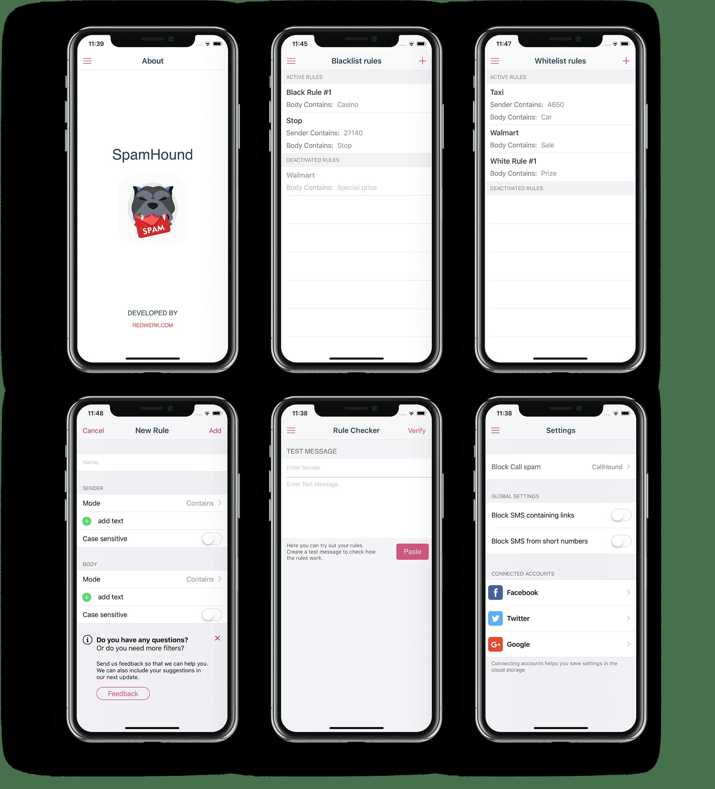 SpamHound Case Study: Text Spam Blocker  Software