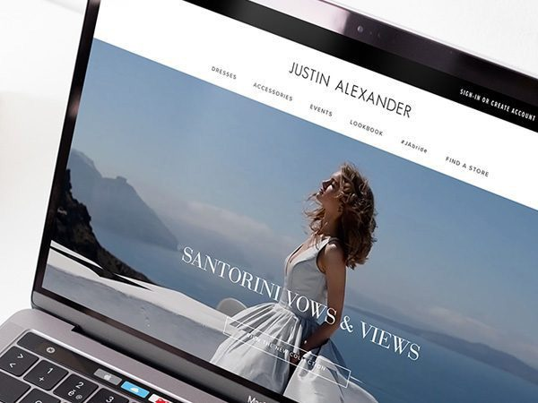 Offshore outsourcing software development company Redwerk developed Justin Alexander bridal dress online platform