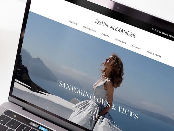Offshore IT outsourcing software development company Redwerk developed Justin Alexander bridal dress online platform