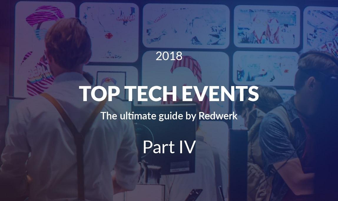 Top Tech Conferences 2018, Quarter 4 - Best IT Events / by Redwerk